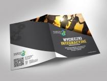 Folder Wycieczki Integracyjne wykonany na zlecenie Fabryki Podróży